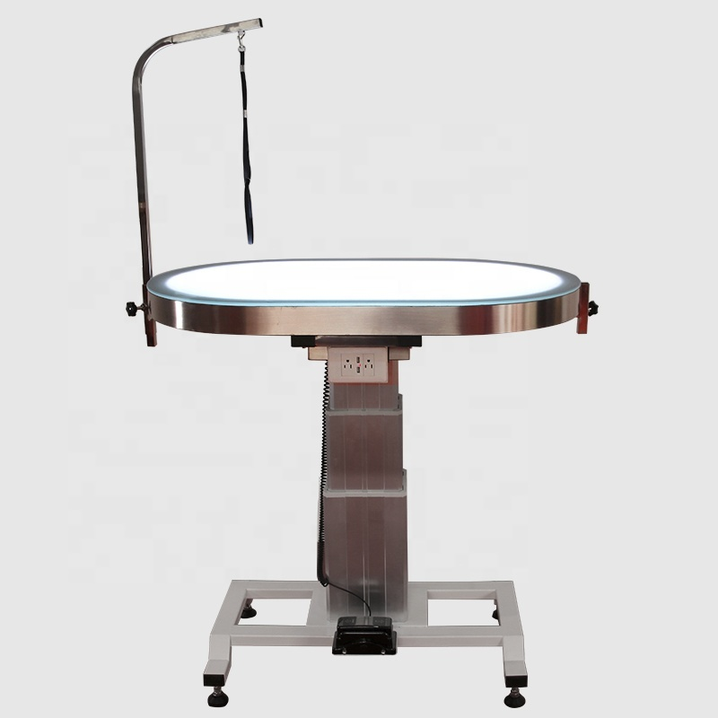 New Design Round LED Electric Large LiftingPet Dog Grooming Table with USB plug-in