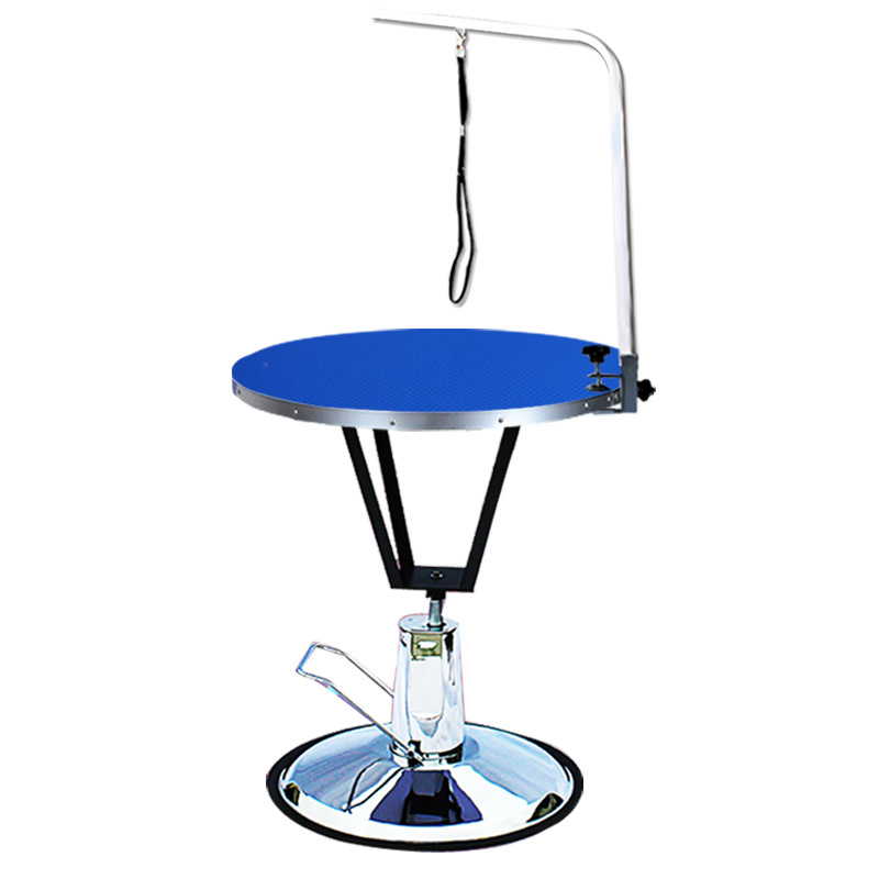 360 Degre Blue Pet Round Hydraulic Grooming Table for pet shower