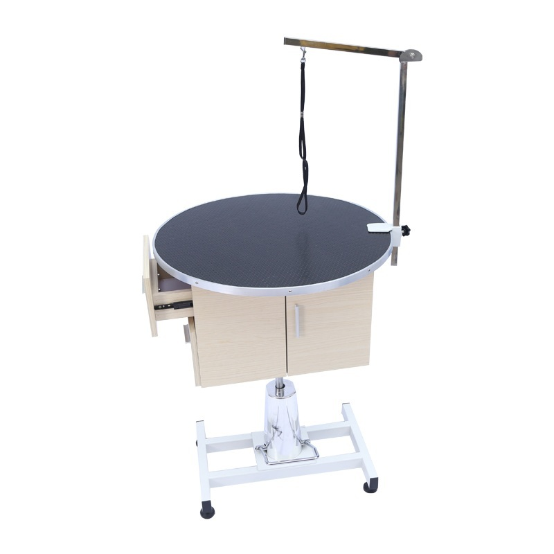 Round desktop Round bottomLarge Hydraulic lift 36 inch pet grooming table dog grooming table