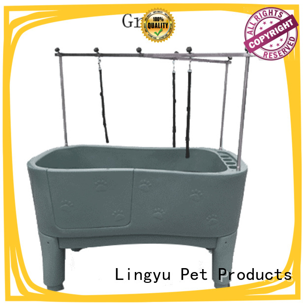 top grooming tub with food control for pets