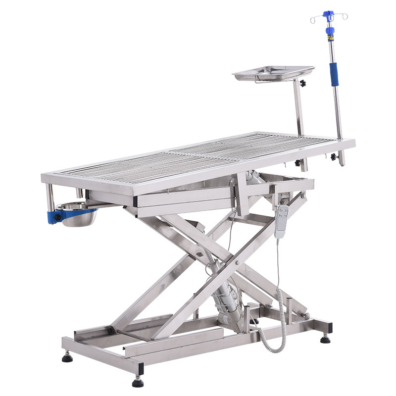 Electric Lifting and Tilting Stainless Steel Veterinaryoperating table