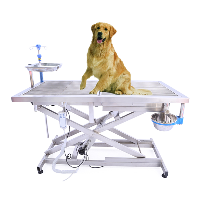 Stainless Steel Veterinary Folding Exam Table Surgery Table Electric Operation Tables