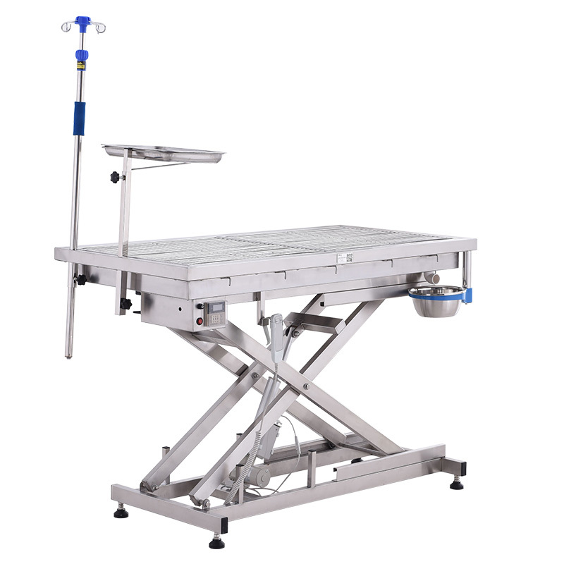 Electric Stainless Steel Cross Lifting Animal Operating Table