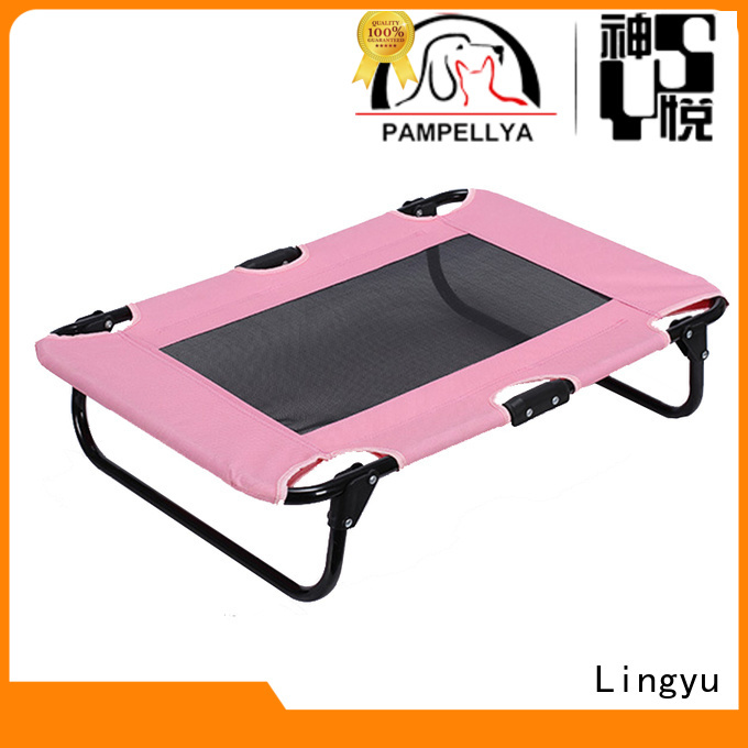 Lingyu animal shaped elevated dog bed company for sale