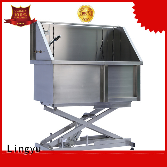 Lingyu pet bathtub with food control for shower