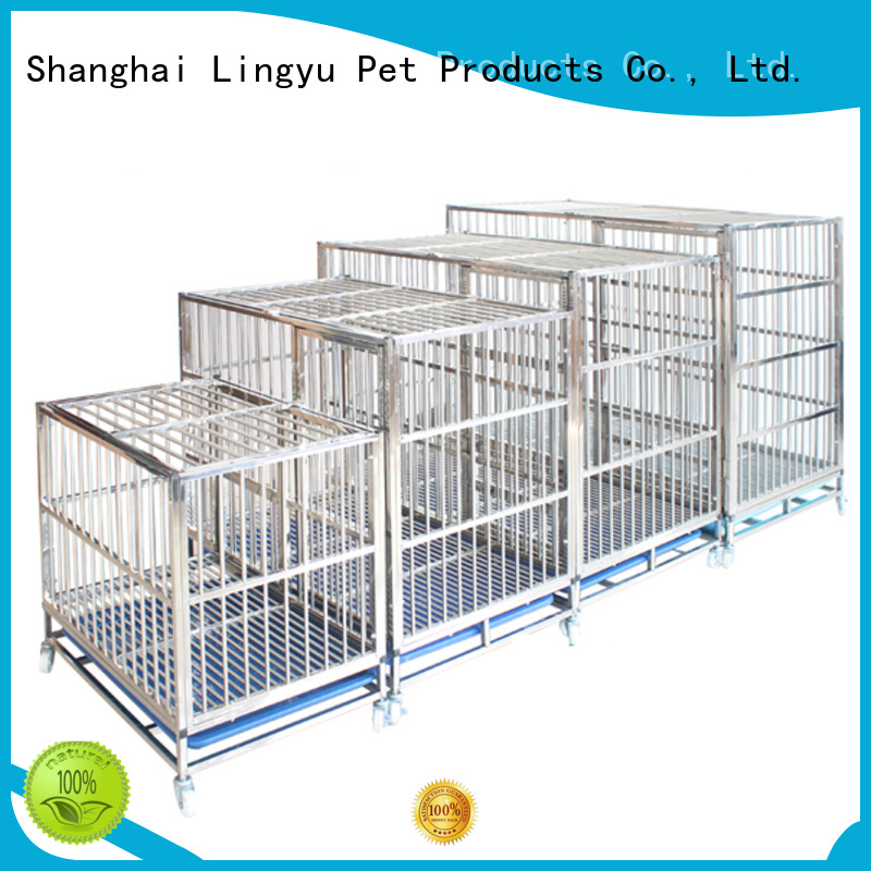 Lingyu xxxl dog crate with movable tray for home