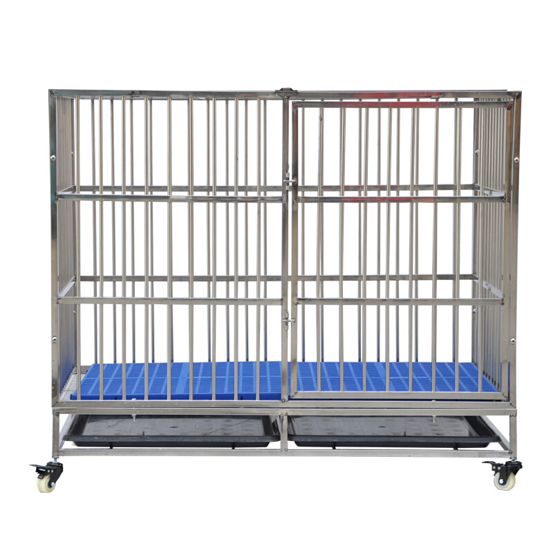 Solid And Durable Folding Dog Cage Plastic Flooring Xxxl Dog Cage
