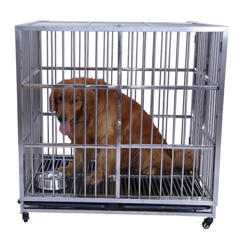 Full Welding Dog Cage Plastic Flooring Metal Dog Show Cage
