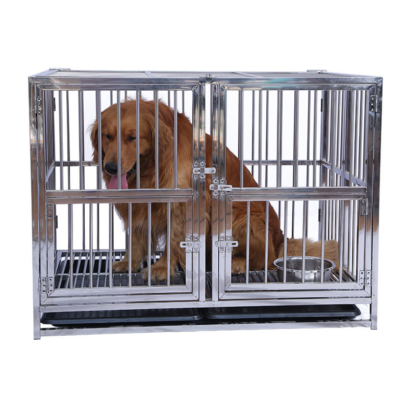 Long Service Life Stainless Steel Big Size Dog Show Cage with 3 Doors