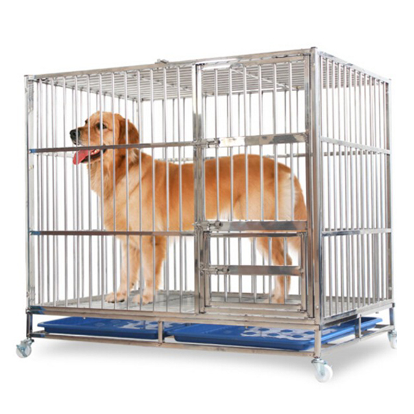 Large And Medium-Sized Heavy Duty Kennel Dog Cage With Wheels