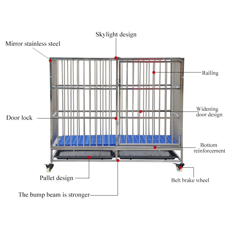 Overstriking Stainless Steel Mesh Travel Modular Dog Cage