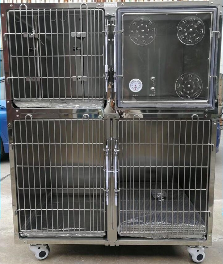 Hot Sale Dog Medical stainless steel Cage with Wheel size 122*70*157 CM