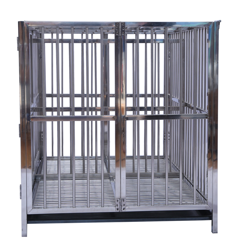 2 Door Pet Wire Dog Cage house for Heavy Duty Dog