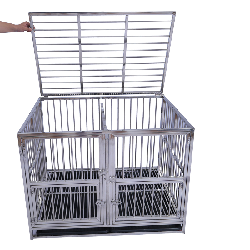 Multi Sizes Foldable Stainless Steel Pet Kennel Dog Cage