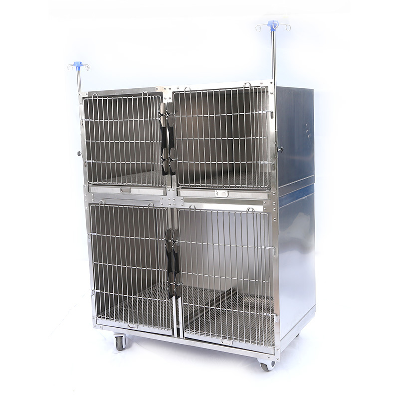 China dog cage pet hospital stainless steel wrought iron dog cage