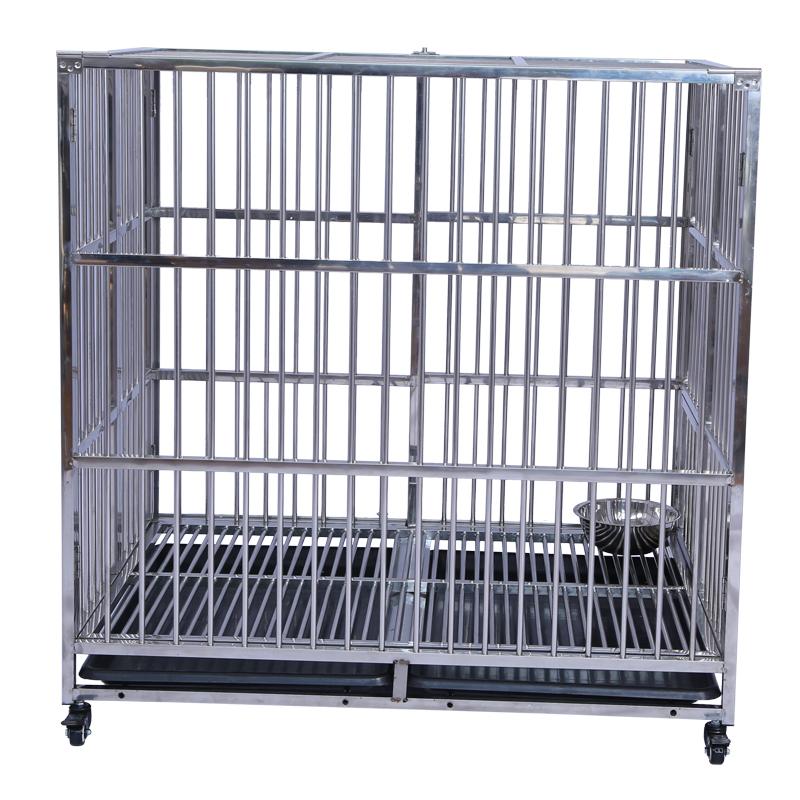 Factory Double Door metal dog crates kennels for sale