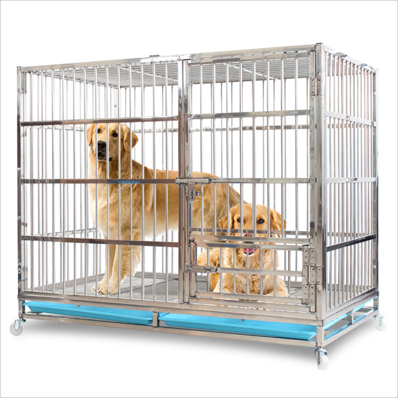 Foldable Large dog house Pet Cage Square Tube Large Dog Crate