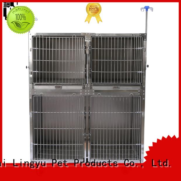Lingyu veterinary dog cage manufacturer for pet hospital