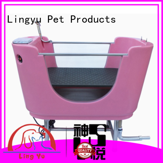 Lingyu top grooming tub with food control for pets
