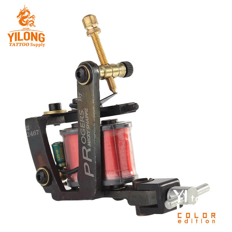 YilongProfessionalImitating Micky Coil Machine 10 Wrap steel Iron Core Machine Coil Tattoo Machine