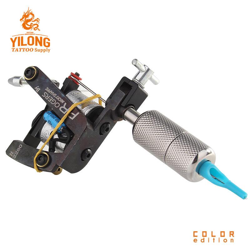 Yilong Liner Tattoo MachineProfessional 10 Wrap steel Iron Core Machine Coil Tattoo Machine
