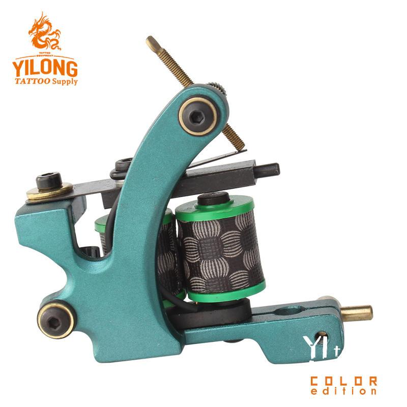 Yilong Copper Professional Tattoo Alloy Coil Cut Machine 10 Wrap steel Iron Core Machine Coil Tattoo Machine
