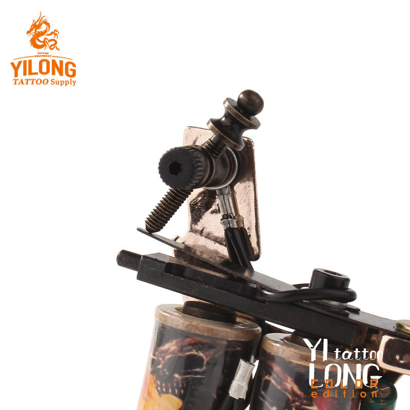 Yilong High Quality Copper Professional Tattoo Alloy Coil Cut Machine 10 Wrap steel Iron Core Machine For Tattooing
