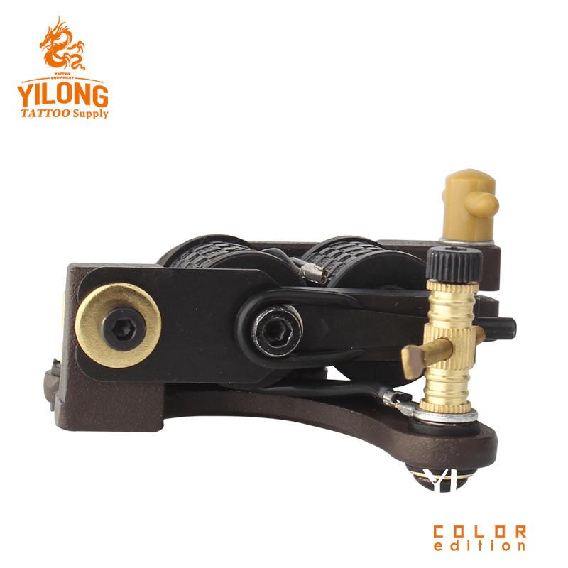 Yilong Hot Sale High Quality CopperProfessional Tattoo Alloy Coil Cut Machine 10 Wrap steel Iron Core Machine