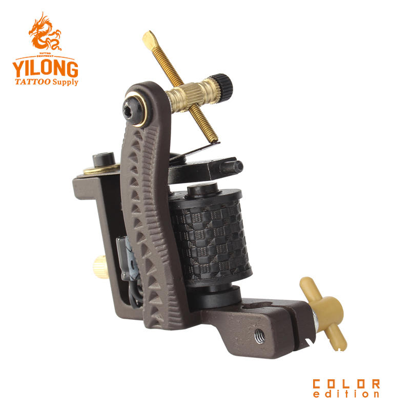Yilong CopperProfessional Tattoo Alloy Wholesale CoilCut Mould Machine 10 Wrap steel Iron Core Machine