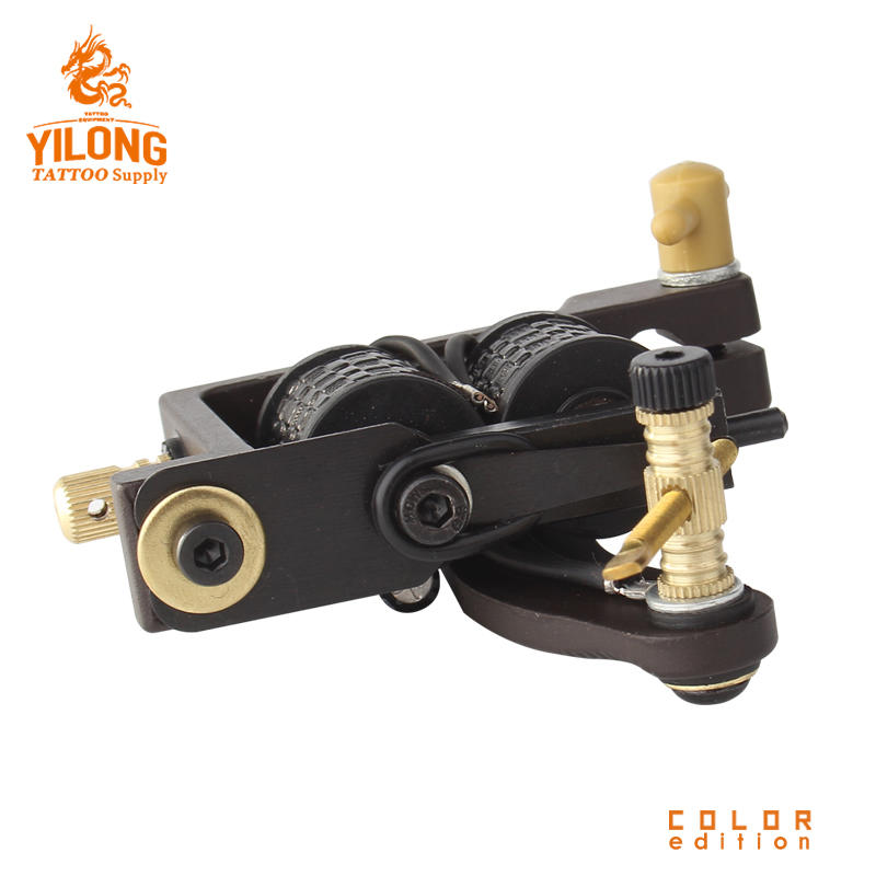 Yilong CopperProfessional Tattoo Alloy Wholesale CoilCut Mould Machine 10 Wrap steel Iron Core Machine