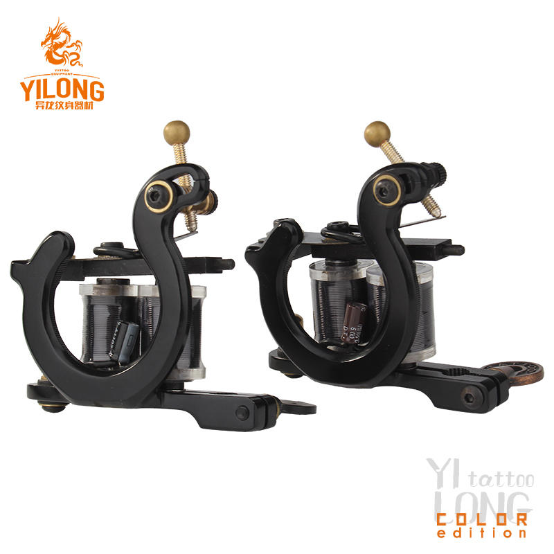 Yilong Horseshoe Secant Coil Machine 10 Wrap steel machine Carbon Steel Cut Mould Tattoo Machine