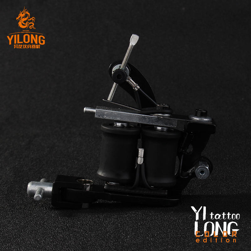 Yilong Wholesale Professional Iron 10 Coil Tattoo Machine Tattoo Gun Shader For Permanent Makeup