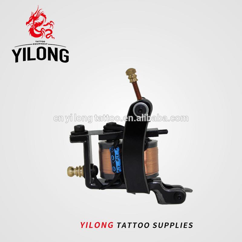 Yilong Professional Steel Wire Cutting Frame Tattoo Coil Machines Tattoo Gun for Body Tattoo