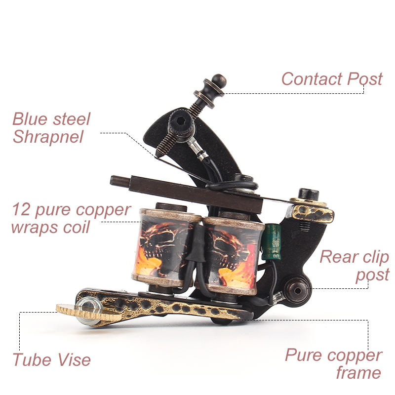 Yilong Pure Copper Coil Tattoo Machine Professional Tattoo Guns For Shader&Line