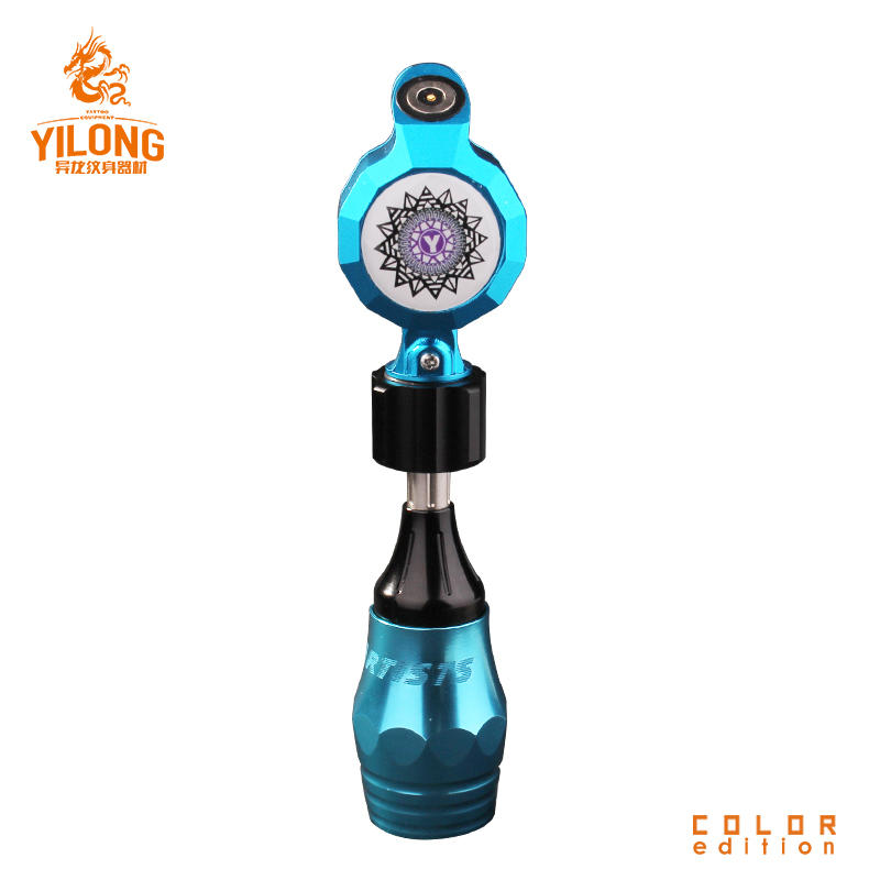 Yilong Newest Wholesale Tattoo Supply ButtonSpace Aluminum Rotary Tattoo Machine for tattoo Using Electric Motor