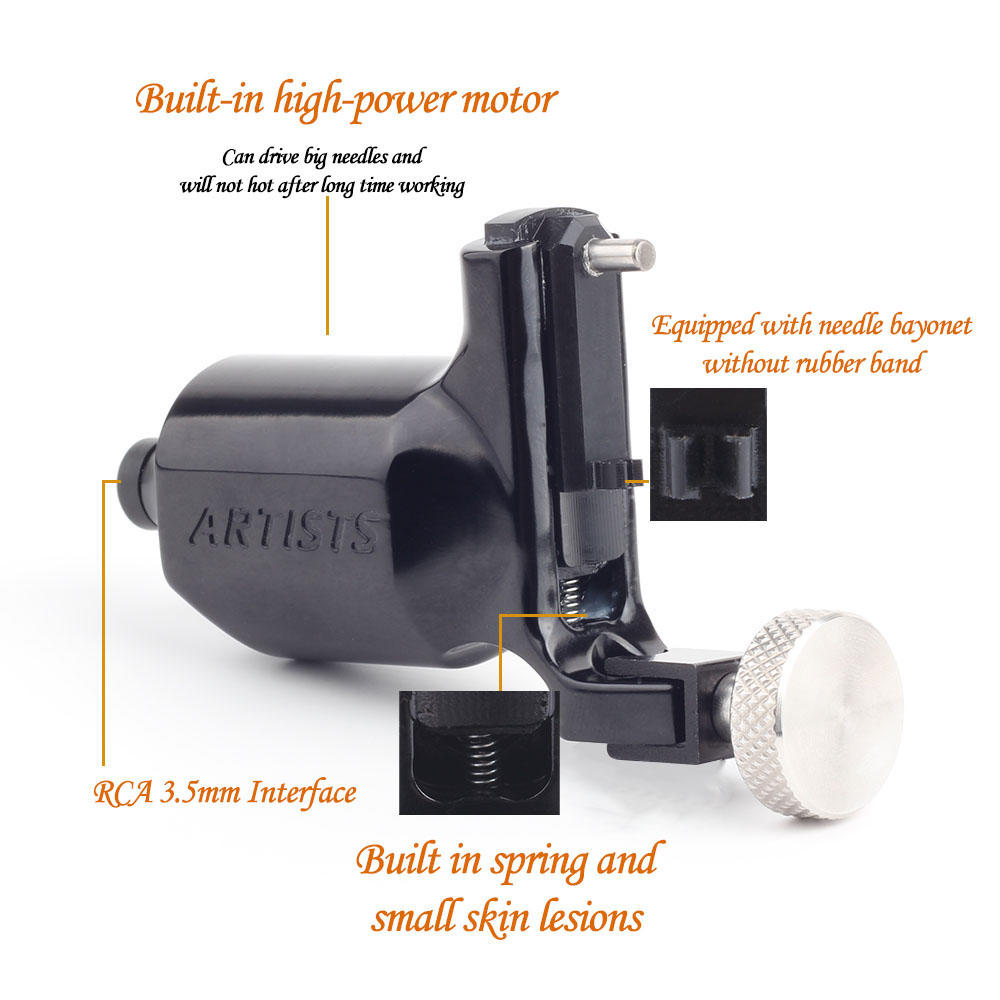 Yilong Tattoo High Quality Professional 5 color Rotary Tattoo Machine Swiss Motor Assorted Liner&Shader Tattoo Gun