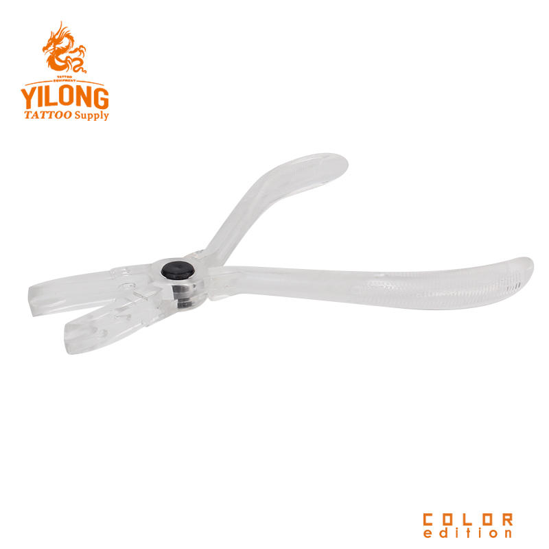 Yilong White Disposable ring closing piler /tongs sterilized by EO Gas Piercing Tools
