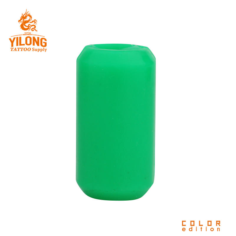 Yilong Sillicon Gel Grip Cover Tattoo Grip Cover Tattoo Supply GreenAlloy/steel Grip 22MM