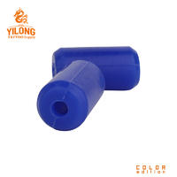 Yilong Sillicon Gel Grip Cover Tattoo Grip Cover Tattoo Supply BlueAlloy/steel Grip 22MM