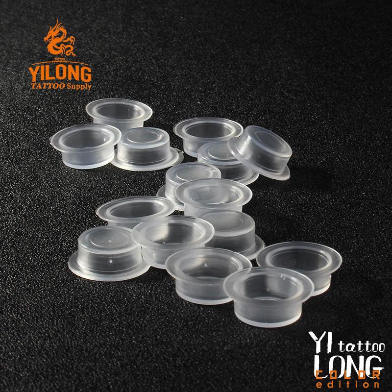 Yilong New Arrival Hot Sale Tattoo High Quality Hexagon pigment cap plastic ink cap 1000pcs