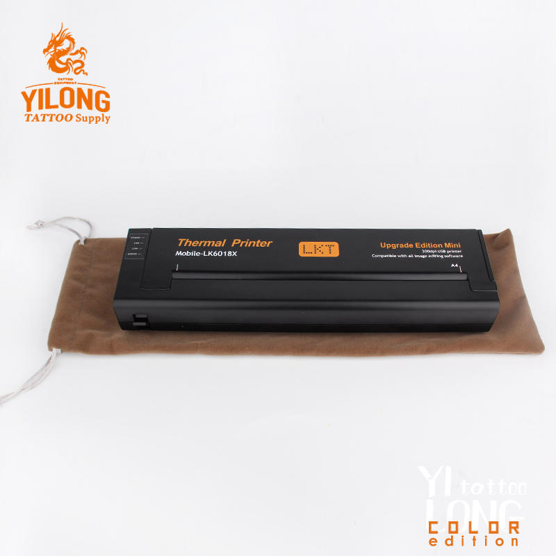 Yilong Mini Tattoo Thermal Transfer Copier Machine Stencil Flash Printer Tattoo Portable Printers