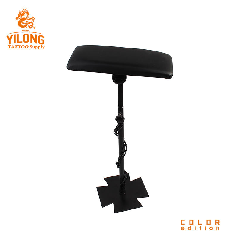 Yilong Stainless Steel Tattoo Chair Black Color Comfortable Tattoo Ajustable Comfortable tattoo armrest