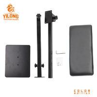 Yilong China Manufacturer Black New Design Square Bottom Arm Rest Portable Adjustable Tattoo Legrest Armrest