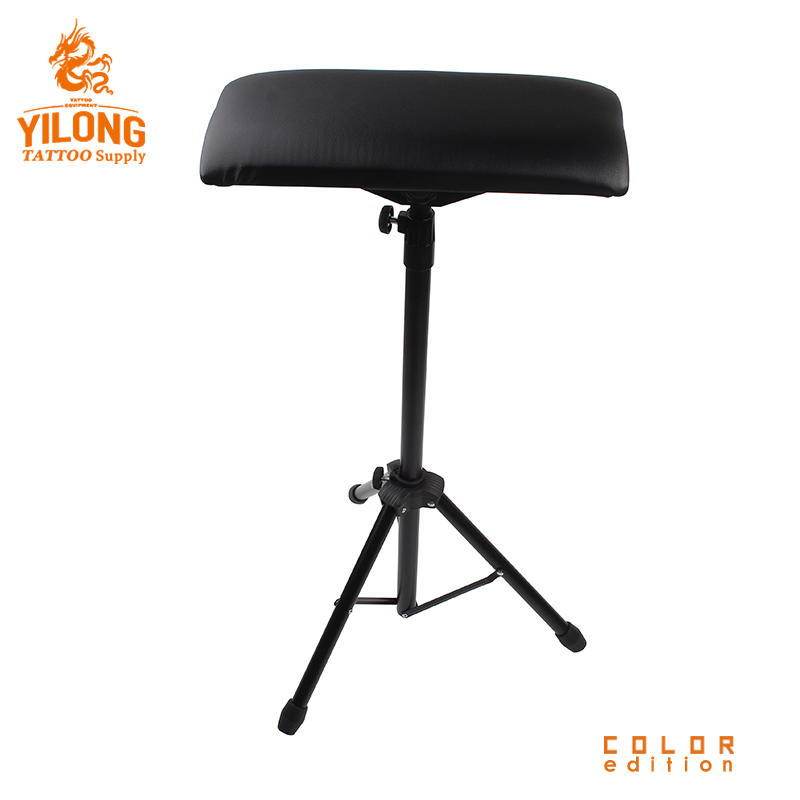Yilong Professional Wholesale Stainless Steel Tattoo Chair Black Color Comfortable Tattoo Ajustable tattoo armrest