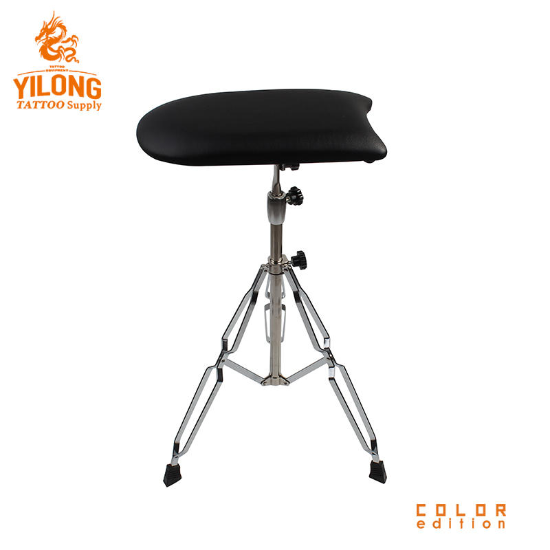 Yilong Wholesale Stainless Steel Tattoo Chair Black Color Comfortable Tattoo Ajustable tattoo armrest