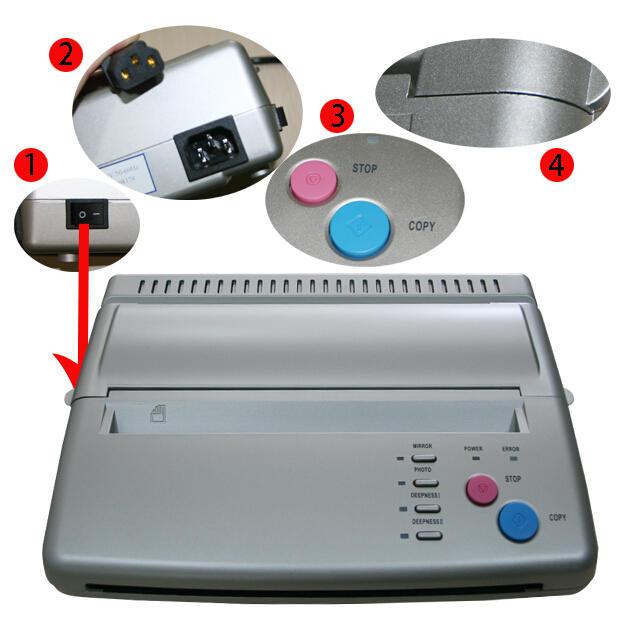 Tattoo Thermal Transfer Copier Machine Stencil Flash Printer Tattoo Thermal Transfer Copier Machine