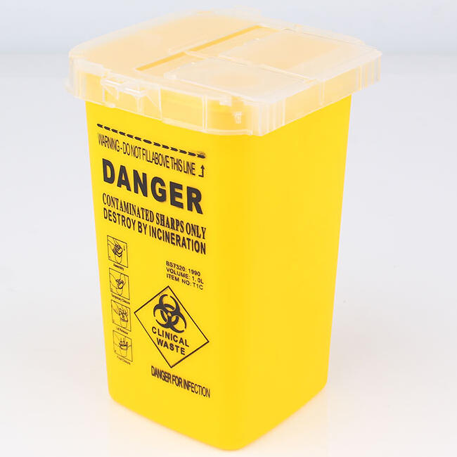 high quality yellow sharp container 1L