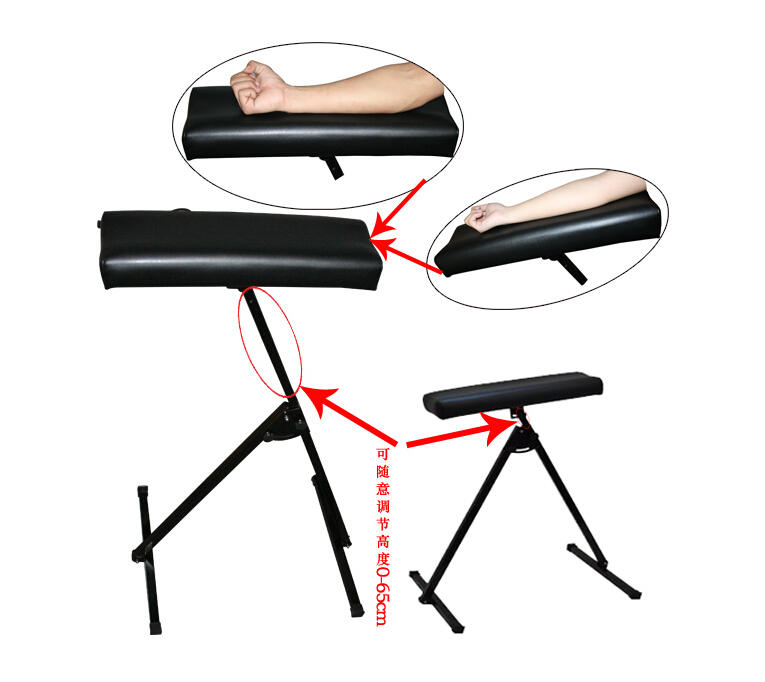 Pro metal Adjustable Portable Tattoo Arm Leg Rest Black,Tattoo Arm&Leg Rest Full Leg Rest Chair