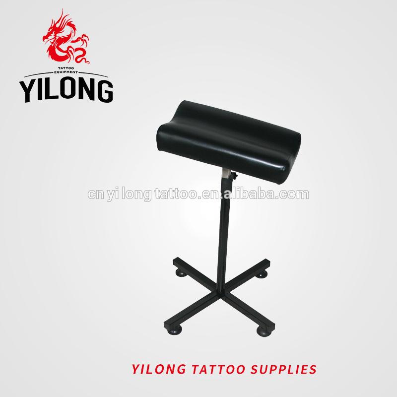 Yilong Hot Sale Tattoo Arm Rest Leg Rest Steel Black Color for Keeping Posture Full Adjustable Extended arm rest