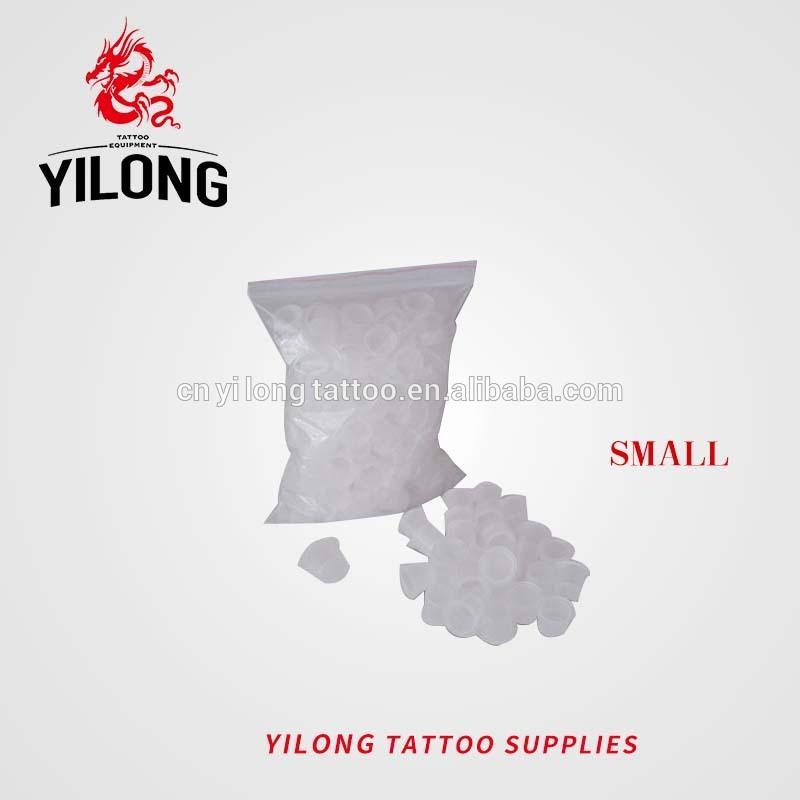 #9Yilong tattoo High Quality small size pigment cap plastic ink cap 1000pcs
